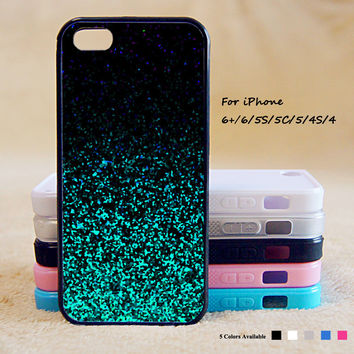 Green Glitter Phone Case For iPhone 6 Plus For iPhone 6 For iPhone 5/5S For iPhone 4/4S For iPhone 5C iPhone X 8 8 Plus