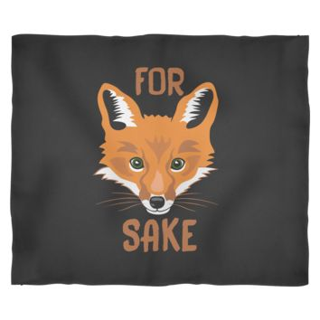 Fox Fleece Blanket by Living You Co | For Fox Sake Blanket, Fox Blanket, Fox Throw Blanket | Keep You and Your Loved Ones Warm | Small, Medium, Large