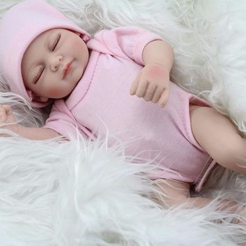 28cm Handmade Realistic Reborn Doll Real Looking Newborn Baby Vinyl Silicone Toy Kids Growth Partners