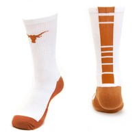 Mojo Texas Longhorns Champ 1/2-Cushion Performance Crew Socks - Youth, Size: 7-9 (White)