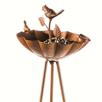 SheilaShrubs.com: Rustic Finish Bird Feeder with Stand 2BF560 by Evergreen Enterprises: Seed Feeders