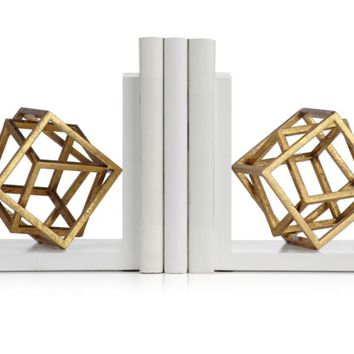 Cubed Bookends | Office | Storage & Organization | Decor | Z Gallerie