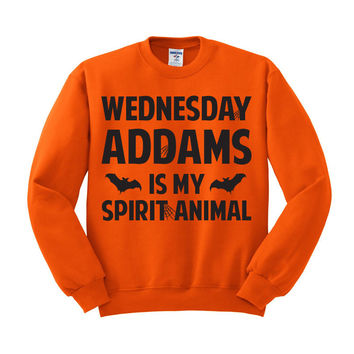 Wednesday Addams is my Spirit Animal Crewneck Sweatshirt