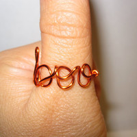 My Boo Ring Orange Wire Wrapped Unique Gifts