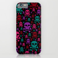 Skull Danger iPhone & iPod Case by Alice Gosling
