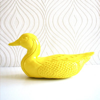Mallard Duck animal statue in bright yellow