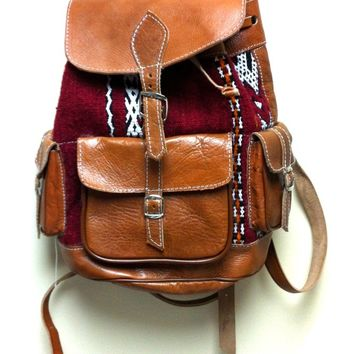 Leather Kilim Backpack