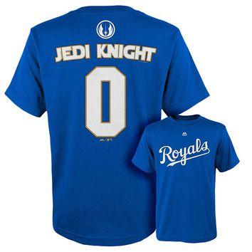 Majestic Kansas City Royals Star Wars Jedi Knight Name and Number Tee Tee - Boys 8-20, Size: