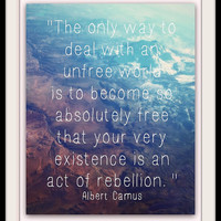 Unfree World Fine Print / Rebellion / Photo Quotes / Aerial Photography / Gift Under 30