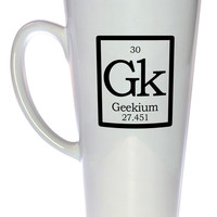Element Gk - Geekium Fake Periodic Table Chemistry Elements Coffee or Tea Mug, Latte Size