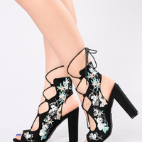 Sprung For You Heel - Black