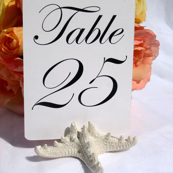 Pearlized Starfish Table Number Card Holder
