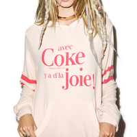 Wildfox Couture Coke Joie Malibu Pullover Pink Wood