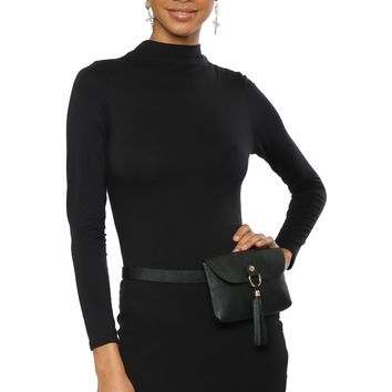 Jac Parker Mock Neck Long Sleeve Dress