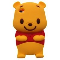 JBG Yellow Iphone 4 case 3D Cute Disney Winnie The Pooh Bear soft silicone case cover For Iphone 4 4g 4s (4th Generation):Amazon:Cell Phones & Accessories