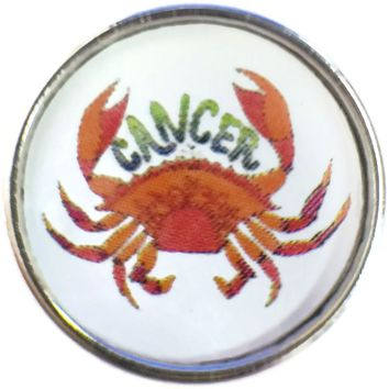 Cancer Art Cool Crab Zodiac Sign Horoscope Symbol 18MM - 20MM Charm for Snap Jewelry New Item