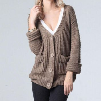 VONE055 Fashion Long-Sleeved Knit Jacket