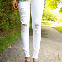 The Favorite Distressed Skinny