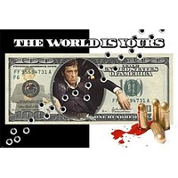 SCARFACE design poster AL PACINO bullets holes blood MONEY collectors 24X36