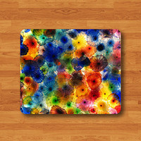 Color Glass Flower Printed Mouse Pad Art Floral Gallery Painting MousePad Computer Matt Personalized Gift Rose Desk Deco Boss Teacher Gift