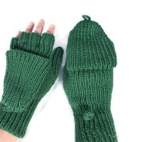 Women's Convertibles Hand Knitted Hobo Gloves Mittens