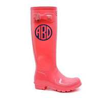 Rain Boot Monogram Decals