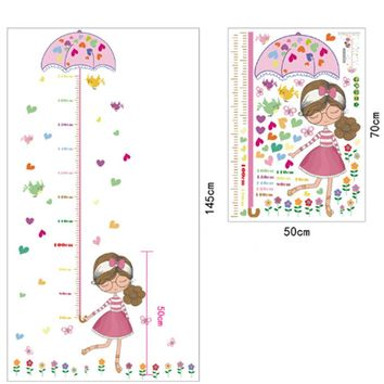 Girl Umbrella wallpaper mural baby girl boy room nursery decor 50x70cm Measure Height wall stickers decal kids adhesive vinyl