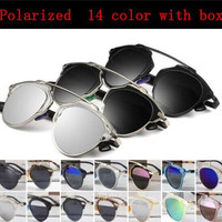 So good quality real metal frame polarized mirror lens sunglasses women brand designer.lunette de soleil.oculos de sol feminino.