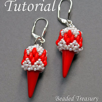 Arrowhead - beadweaving earrings tutorial / Beading tutorial / Earring tutorial / Bead pattern / Superduo tutorial / TUTORIAL ONLY