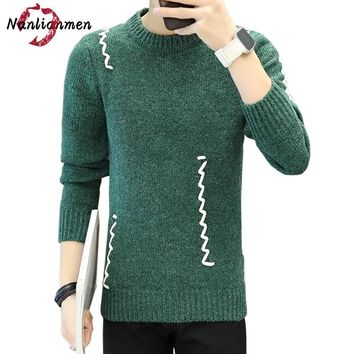 2017 Time-limited Full O-neck Autumn Winter New Casual Sweater Men Wool Cotton Knit Mens Pullover Sueter Hombre Coat Male