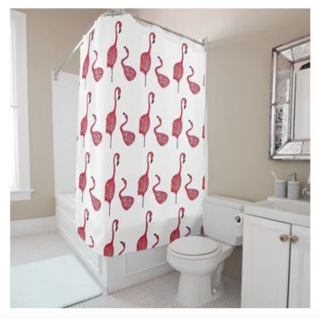 Shower Curtain - Flamingo