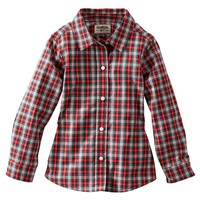 OshKosh B'gosh Plaid Poplin Woven Top - Toddler
