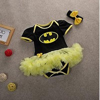 2016 Hot Batman Romper Dress for Newborn Baby's First Christmas Costumes Superman Batman Birthday Party Tutu Dress Bebe Vestido