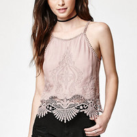Kendall & Kylie Crochet Embroidered Tank Top at PacSun.com