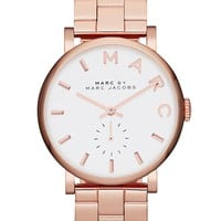 Women's MARC BY MARC JACOBS 'Baker' Bracelet Watch, 37mm - Rose Gold
