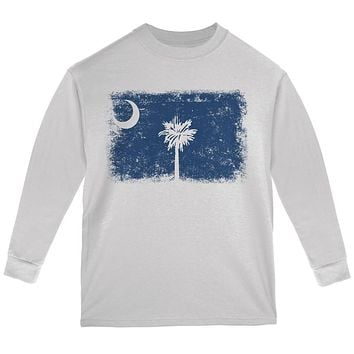 Born and Raised South Carolina State Flag Youth Long Sleeve T Shirt