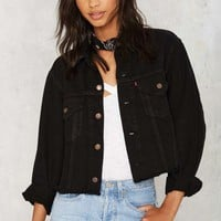 After Party by Nasty Gal Hillary Cropped Jacket - Black