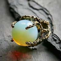 Sanktoleono Jewelry Womens Opalite Sphere Ring