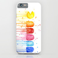 Pacman Rainbow iPhone & iPod Case by Olechka