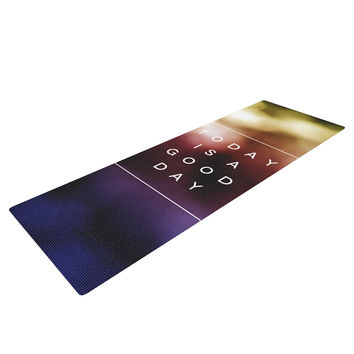 "Galaxy Eyes ""Good Day"" Rainbow Yoga Mat"