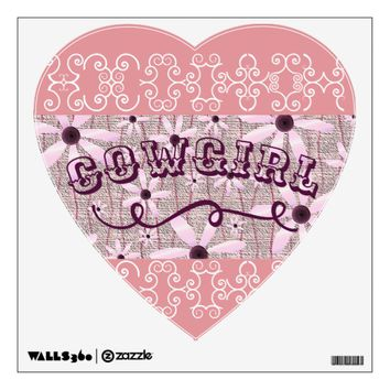 Cowgirl! Purple/Pink 2018 Wall Decal