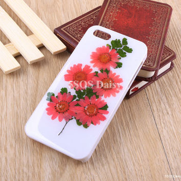Daisy iPhone 5 case, iPhone 4 case, iPhone 4s case, iPhone 5s case, iPhone 5c case, Pressed Flower Galaxy S4 S5 Note 3 - 01002
