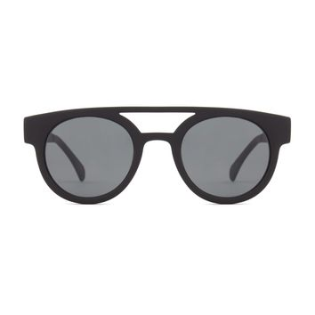 Komono - Dreyfuss Metal Series Black Sunglasses / Polycarbonate Solid Smoke Lenses