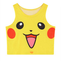 Womens Pokemon Crop Top gift