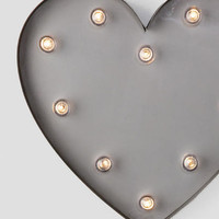Silver Heart Marquee Light
