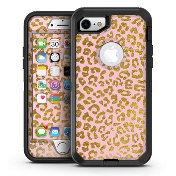 Pink Gold Flaked Animal v3 - iPhone 7 or 7 Plus OtterBox Defender Case Skin Decal Kit