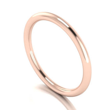 Solid 14k Rose Gold Stacking Ring, Toe Ring, Thumb Ring, Midi Ring, Knuckle Ring