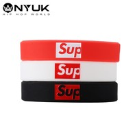 New Arrival Jewelry Shiny Hot Sale Stylish Fashion Hip-hop Silicone Ring Strong Character Alphabet Accessory Bangle [1005016350756]