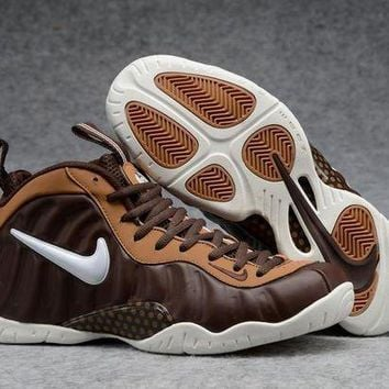 UCANUJ3V Air Foamposite Pro Bronze/White Basketball Shoe Size 40--47