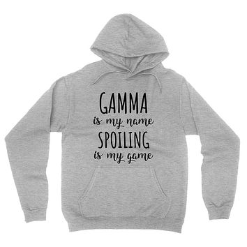 Gamma is my name spoiling is my game Mother's day birthday gift for grandma grandmother hoodie